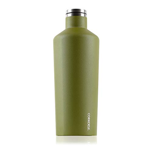 Corkcicle 60oz Canteen Classic Collection - Water Bottle & Thermos - Triple Insulated Shatterproof Stainless Steel, Waterman Olive