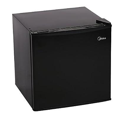 BestAppliance Black 1.6 Cubic Feet Compact Single Reversible Door Refrigerator and Freezer