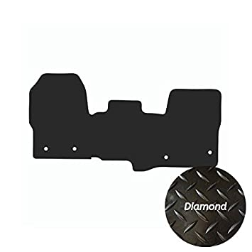 2018 - Date Double Passenger Premier Products Fully Tailored 4mm Rubber Mats with Diamond Design for Transit Custom - 4 Oval Fixing
