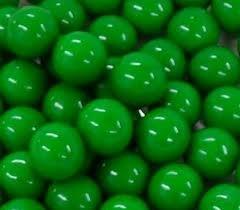 - Green 1 Inch Gumballs, 1LB