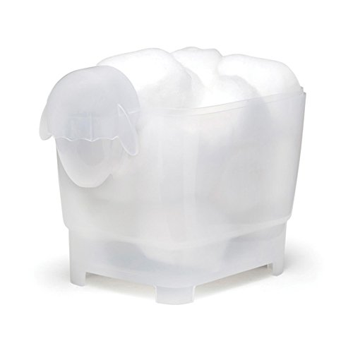 Dolce Sheep Plastic Cotton Swab and Ball Container