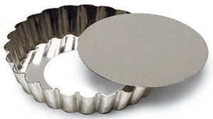 SCI Scandicrafts Fluted Tart/Quiche Mold, Removable Bottom 5.5-inch Diameter