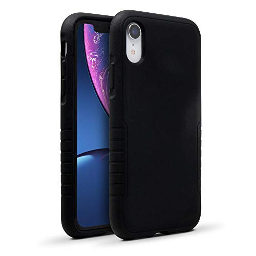 BodyGuardz - Shock Case Compatible w/iPhone Xr, TPU Case with Impact-Absorbing Technology - Apple iPhone Xr (Black)