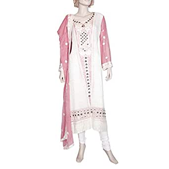 Shabnam Off White Casual Kameez & Salwar Set For Women