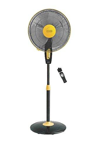 V Guard Finesta Remote 400mm Pedestal Fan Yellow Black