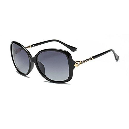 Aoligei Deux couleurs Dame Polarized lunettes de soleil lunettes de soleil pilote miroir wi3dMil