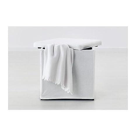 Ikea BOSNAS - Escabel con el Almacenamiento, Ransta Blanco £15 ...