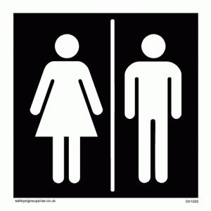 Image result for male female washroom sign