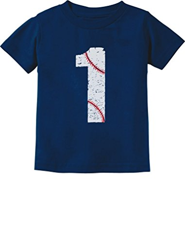 Tstars TeeStars - Baseball 1st Birthday Gift For One Year Old Infant Kids T-Shirt 18M Navy 1st Birthday Baseball