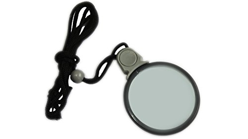 Actopus Handheld 5X Magnifier Optical Magnifying Reading Glasses with Lanyard