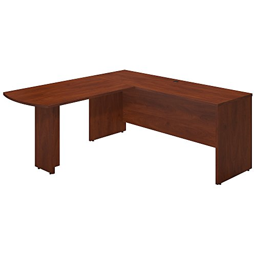 Series C Elite 72W x 24D Desk Shell with 48W Peninsula Return in Hansen Cherry
