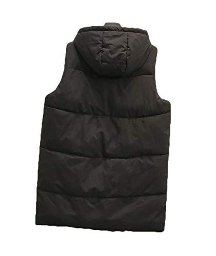 Capuchon Femme Warm Grande Veste Femme Jshfd Mode À Hiver Keep Taille Noir Gilet fPtqz