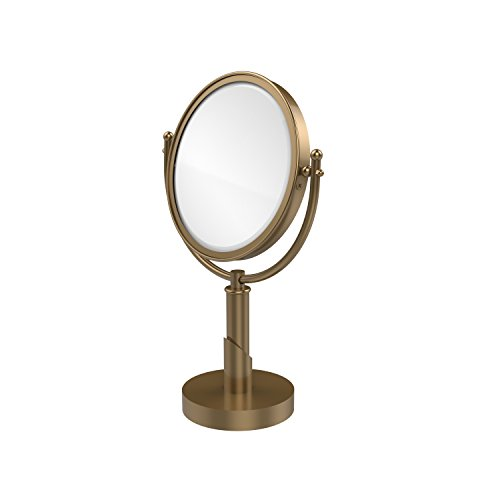 Allied Brass SH-4/4X-BBR Soho Collection 8 Inch Vanity Top Make-Up Mirror 4X Magnification Brushed Bronze