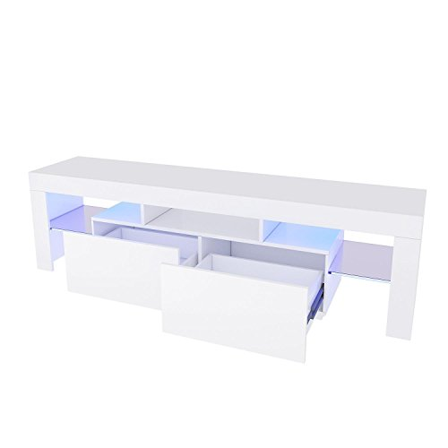 Utheing Modern Wood LED TV Stand for Living Room Furniture