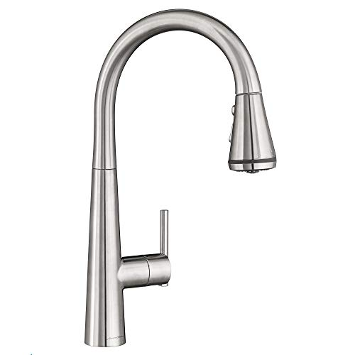 American Standard 4932300.075 Edgewater Pull-Down Kitchen Faucet with SelctFlo in Stainless Steel