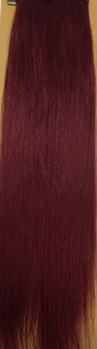 "Price comparison product image Bobbi Boss Feather Tip Pre-Feather Braiding Hair 100% Afrelle Kanekalon 3oz. 54"" (BURGUNDY)"
