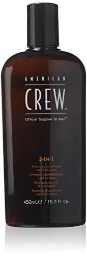 3 In 1 Shampoo and Conditoner and Body Wash by American Crew for Men - 15.2 oz Shampoo & Conditoner