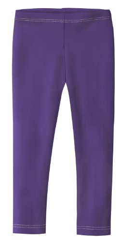 City Threads Girls' Leggings 100% Cotton for School or Play Perfect for Sensitive Skin or SPD Sensory Friendly Clothing, Purple, 10