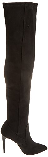 New Look Women's Biscuit High Boots Black (Black) XV585s5aF