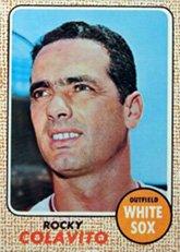 1968 Topps Regular (Baseball) card#99 Rocky Colavito of the Chicago White Sox Grade Very Good