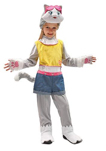 Ciao-Milady gattina 44 Gatti costume travestimento bambina (Taglia 4-6 anni) Disfraz para niños, color grigio, rosa, (11239.4-6)