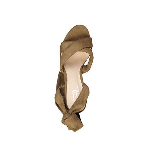 Ana Lublin - RUBIA Sandalias Con Cordones Para Mujer Tacón 12.5 cm, Plataforma 4 cm