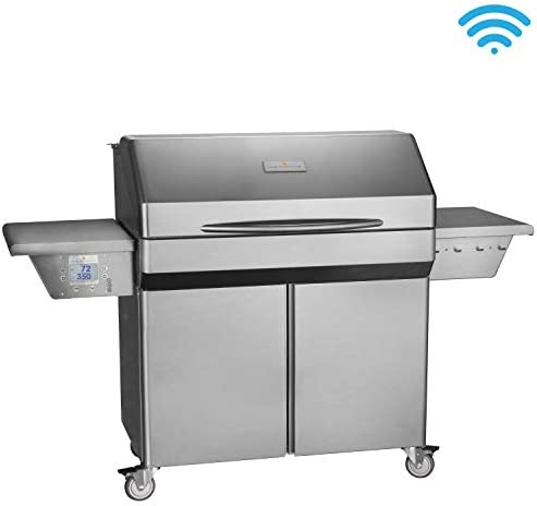Memphis Grills Elite Wood Fire Pellet Smoker Grill with Wi-Fi VG0002S , Freestanding, 304 Stainless Steel Alloy