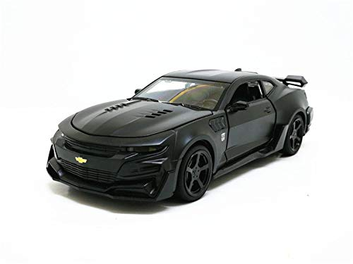 Generic 1 32 Chevrolet Camaro Sports Car Alloy Diecast Model Car Toy 5 color Pull Back Flashing for Kids Birthday Christmas Gifts Toys Black