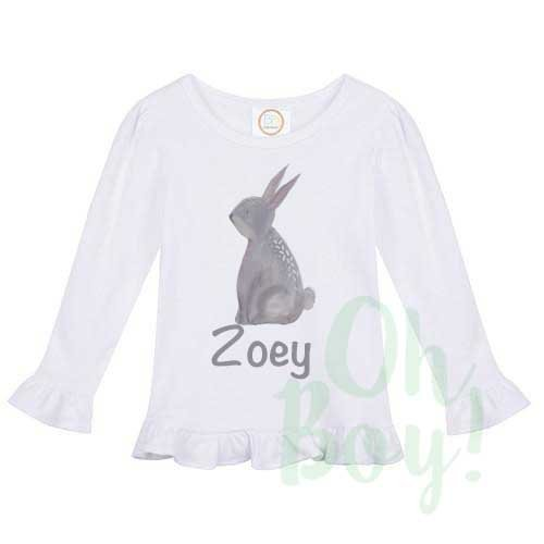 358ac050 Amazon.com: Girls Personalized Easter Bunny Tee Shirt: Handmade