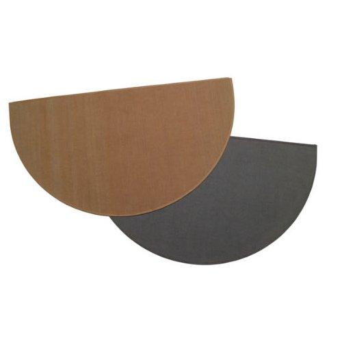 Copperfield 47150 Charcoal Half Round Hearth Rug, 27 x 48 Inch, 100% - Rug Hearth Fiberglass