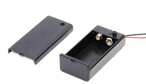 Genssi 9V Battery Box with On / Off Switch 9 Volt Battery Holder with Power Switch Clip ()