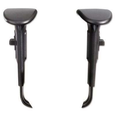 Height/Width-Adjustable T-Pad Arms for Alday 24/7 Task Chair, Black, 1 Pair, Sold as 1 Pair, 2 per Pair