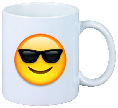 Druckerlebnis24 Taza Cara con Gafas de Sol de cerámica ...