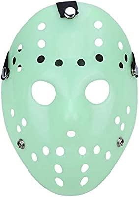 Jason Mask - Mascara Jason Masks Dance Gathering Halloween Mask Horror Funny Masquerade Prop Party Festival - Cosplay Hood Stickers Realistic Glow Broken ...