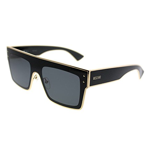Moschino Women's Square Gradient Frame Sunglasses, Black/Dark Grey Gradient, One Size ()