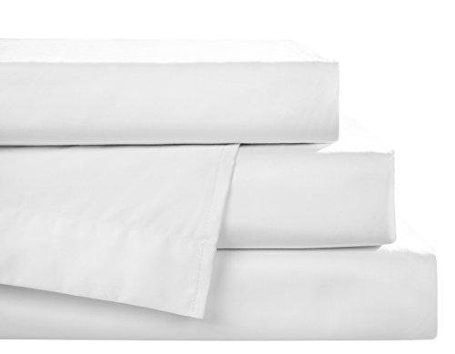 - Carpe Sonno Heavenly Sateen Bed Linen 600 Thread Count 100% Cotton Breathable and Cozy Queen Size Top Sheet Pure White Comfortable Quality Bedding Luxury Bedsheets Made in Germany