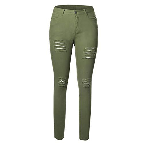 De Grande Elástica Agujero Mujeres Las Invierno Talla Pequeños Fuerza Cintura Pies Jibo Alta Pantalones E Green Ocio Otoño Mujer dwq6I7