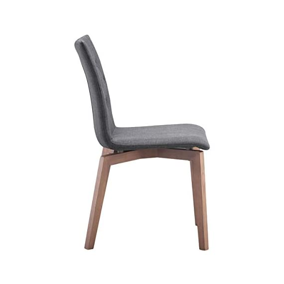 Zuo Modern Orebro Dining Chair, Graphite, (Set of 2) - Solid blend of fashion and function Perfect around a square dining table or in the corner of a living room Polyblend and Solid Wood materials - kitchen-dining-room-furniture, kitchen-dining-room, kitchen-dining-room-chairs - 318H05w31NL. SS570  -