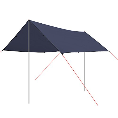 OUTAD Sun Shelters 3x4 Meters Ultra-light 40D Silicon Coating Sun Shade Sail for Outdoor (Dark (Carport Deluxe Shelter)
