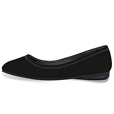 CINAK Flats Shoes Women- Slip-on Ballet Comfort Walking Classic Round Toe Shoes