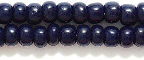 Preciosa Ornela 6SB179 Czech Seed Bead, Opaque Deep Navy Blue, Size 6/0 Shipwreck Beads