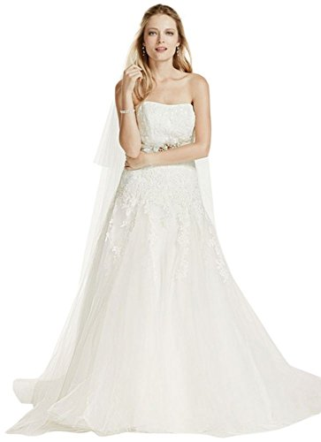 Beaded Dress with Wedding Tulle Lace Strapless Style V3469 Ivory xBTIqtOEw