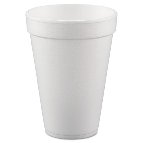 Dart Conex Hot/Cold Foam Drinking Cups, 10 oz, White, Foam, 1000/Carton (10FJ8) DCC10FJ8
