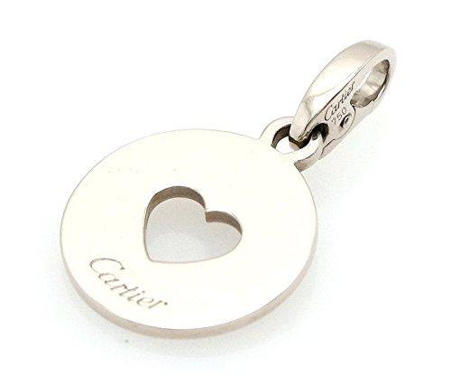 [カルティエ] Cartier ハート メダル ネックレス チャーム ペンダント K18WG 750WG ホワイトゴールド B07DS19L1N