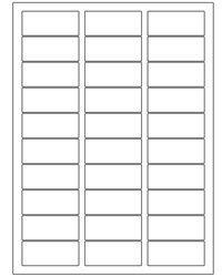 30,000 Laser / Ink Jet Address Labels. 2.625' X 1' Labels, 30up. Blank White 1,000 Sheets Bulk