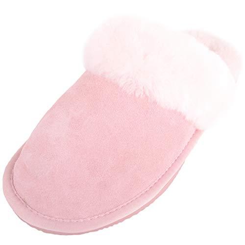 Sole Para Estar Por Rosa Snugrugs Mujer Pastel Cuff De Zapatillas Lightweight And Sheepskin With Casa ZPFP4AX