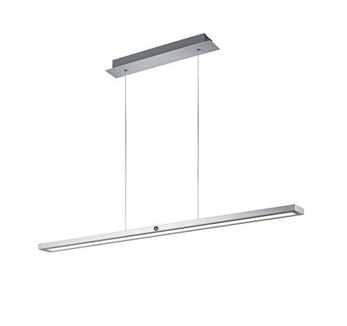 Trio Leuchten LED hanglamp Silas 372294505, aluminium geborsteld, acryl wit, 45 Watt, 4-voudige touch dimmer