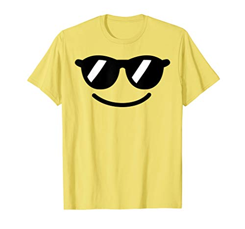 Halloween Emojis Costume Shirt Cool Sunglasses Emoticon ()
