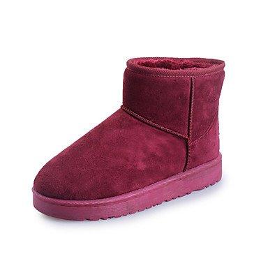 Fashion Piatto 5 Novità Comfort UK6 Da Toe Donna Autunno Fodera US8 Snow Scarpe 5 Tacco Pelle CN40 Lanugine Round Nubuck RTRY Inverno EU39 Caviglia Stivali Stivali Stivaletti Boots In 6WUv5n