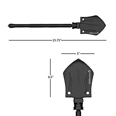 Wakeman 75-CMP1067 Outdoors Tactical Utility Shovel– Compact Folding Survival Metal Spade Multitool for Camping, Hunting and Hiking with Nylon Carrying Bag : Garden & Outdoor